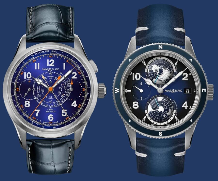 Montblanc 1858 Split Second Chronograph Limited Edition 100 and Montblanc 1858 Geosphere