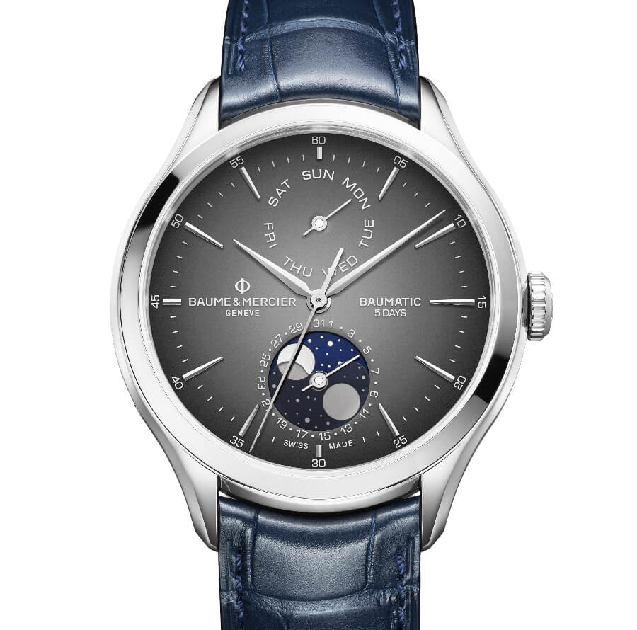 Baume & Mercier Clifton Baumatic Day-Date, Moon-Phase