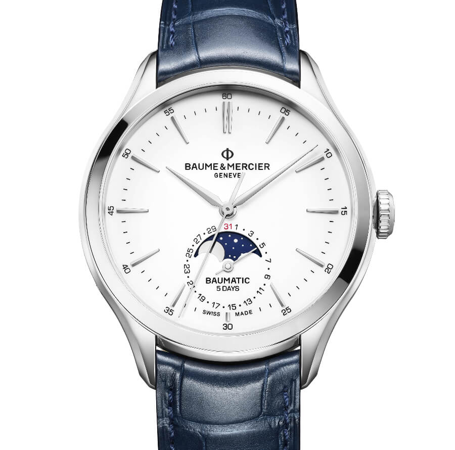The New Baume & Mercier Clifton Baumatic Moon-Phase, Date