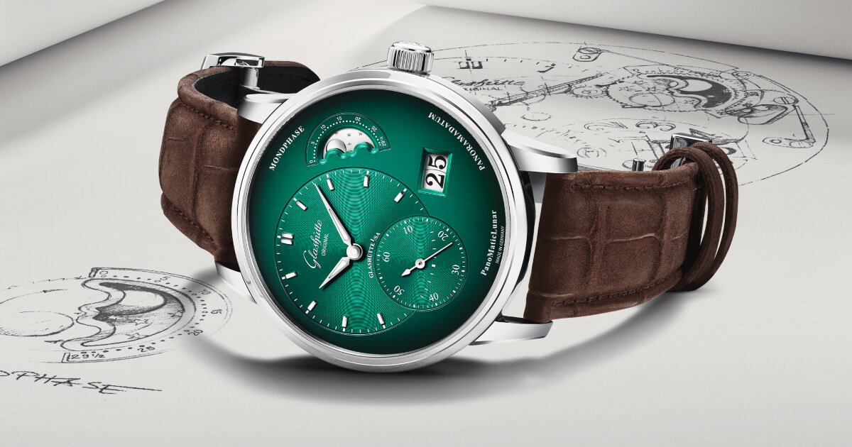 The New Glashütte Original PanoMaticLunar In Forest Green (Price, Pictures and Specifications)