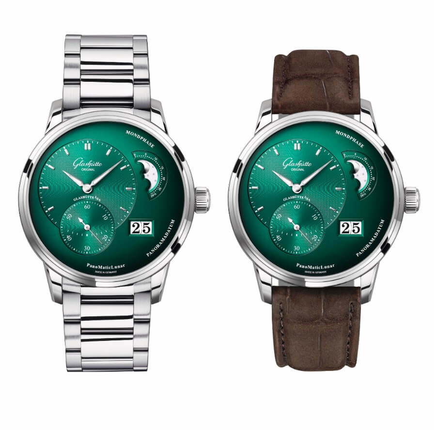 The New Glashütte Original PanoMaticLunar In Forest Green