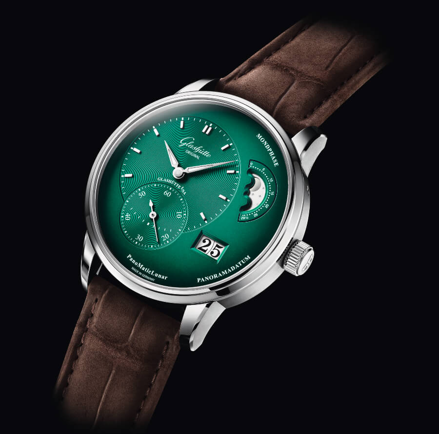Glashütte Original PanoMaticLunar In Forest Green Watch Review