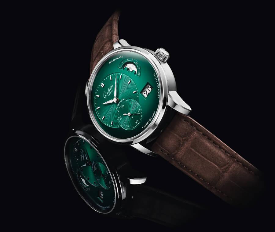Glashütte Original PanoMaticLunar Green Dial