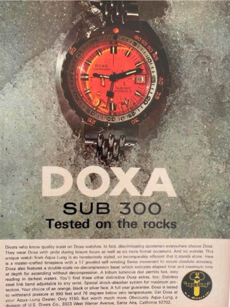 Vintage Doxa Sub Diver Watch