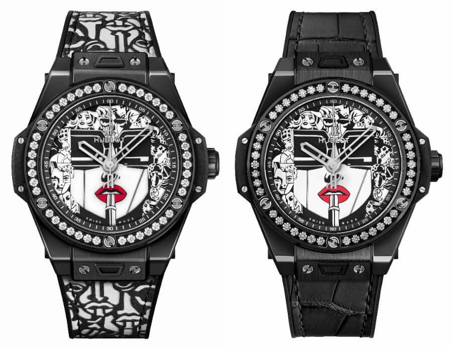 Ladies Watch Hublot Big Bang One Click 39 mm Marc Ferrero Ceramic Black & White
