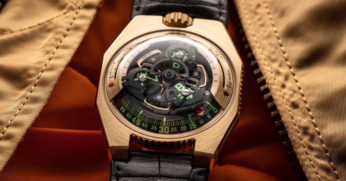 "The First Urwerk UR-100 ""Fight C-19"" In Gold Sold For 96,500 Swiss Francs (Excluding Tax)"
