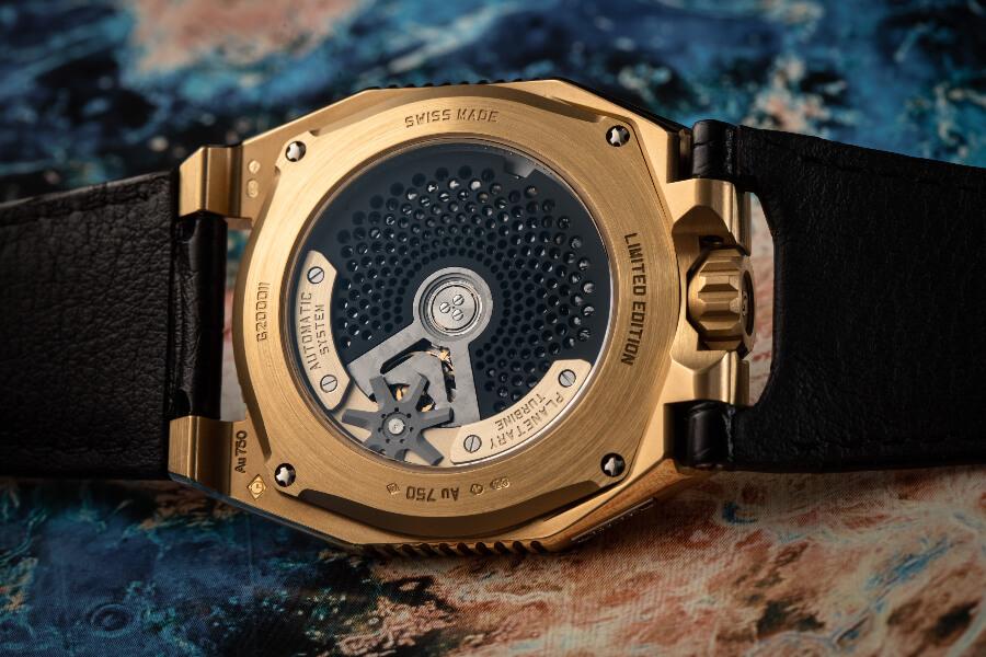 Urwerk UR-100 Gold Edition  Watch In House Movement
