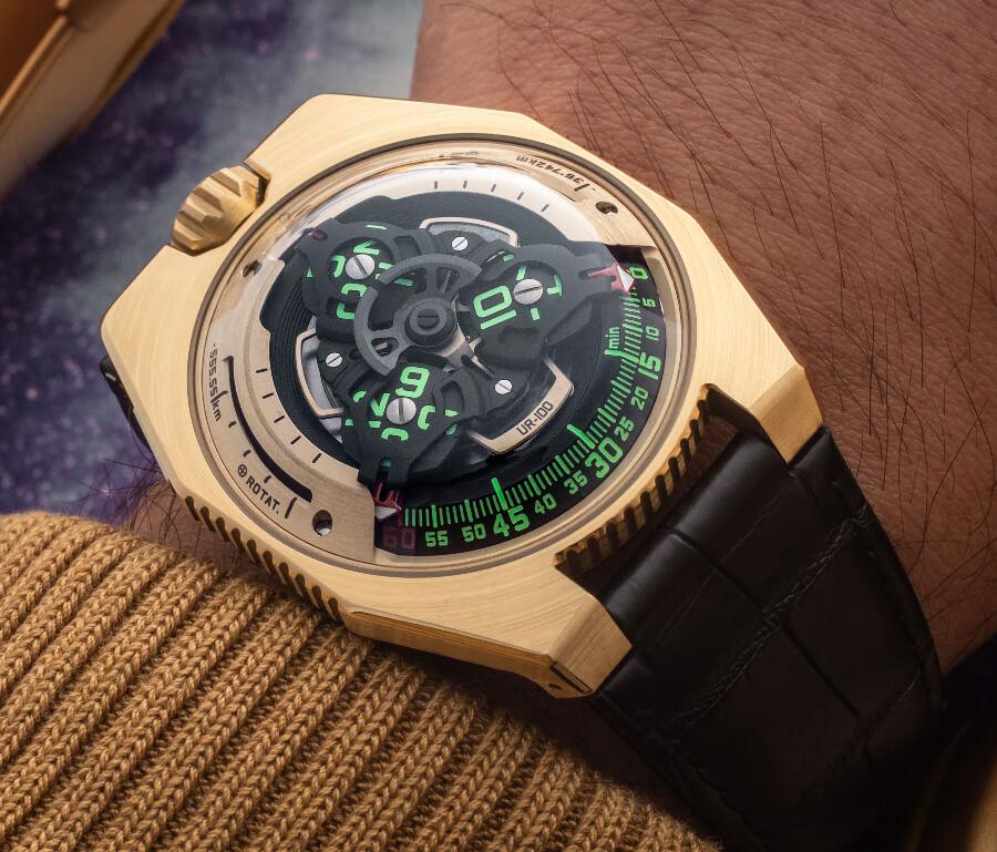 Urwerk UR-100 Gold Edition Watch Review