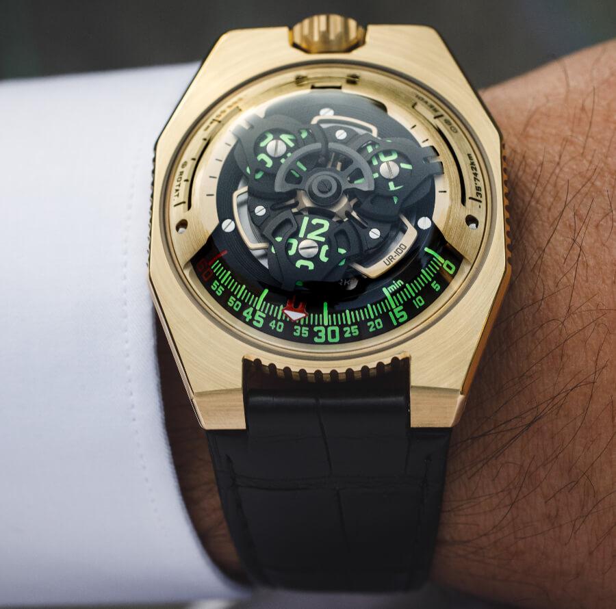 Men watchUrwerk UR-100 Gold Edition