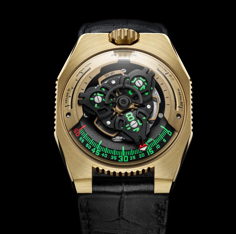 Top Expensive Watches Urwerk UR-100 Gold Edition