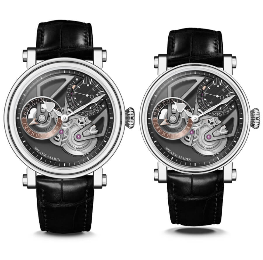 Speake-Marin One&Two Openworked Tourbillon Titanium 42 mm and 38 mm