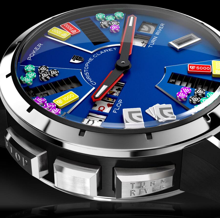 Christophe Claret Poker Ref. MTR.PCK05.001-020 Blue PVD Dial