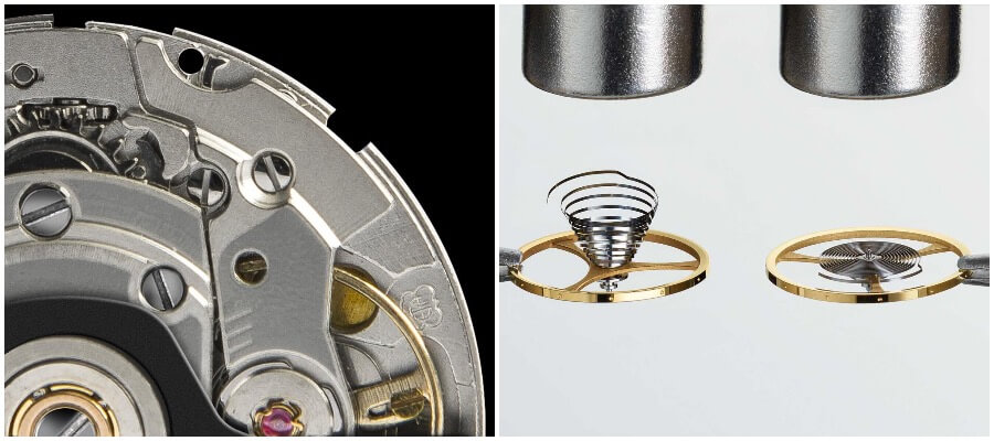 Powermatic 80 automatic movement and Nivachron balance spring