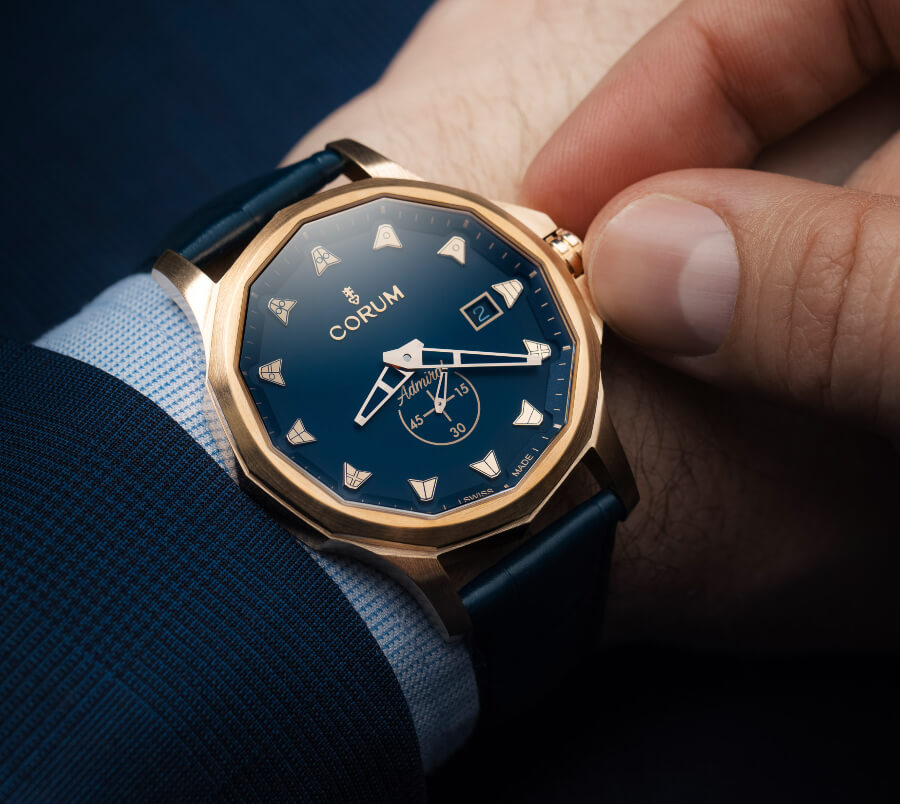 Corum Admiral 42 Automatic Bronze Blue Watch Review