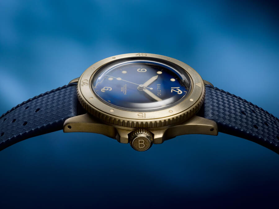 Baltic Aquascaphe Bronze Blue Watch