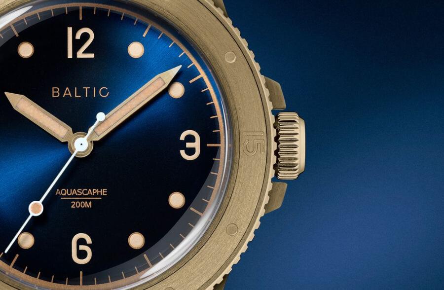 Baltic Aquascaphe Bronze Blue Men Watches