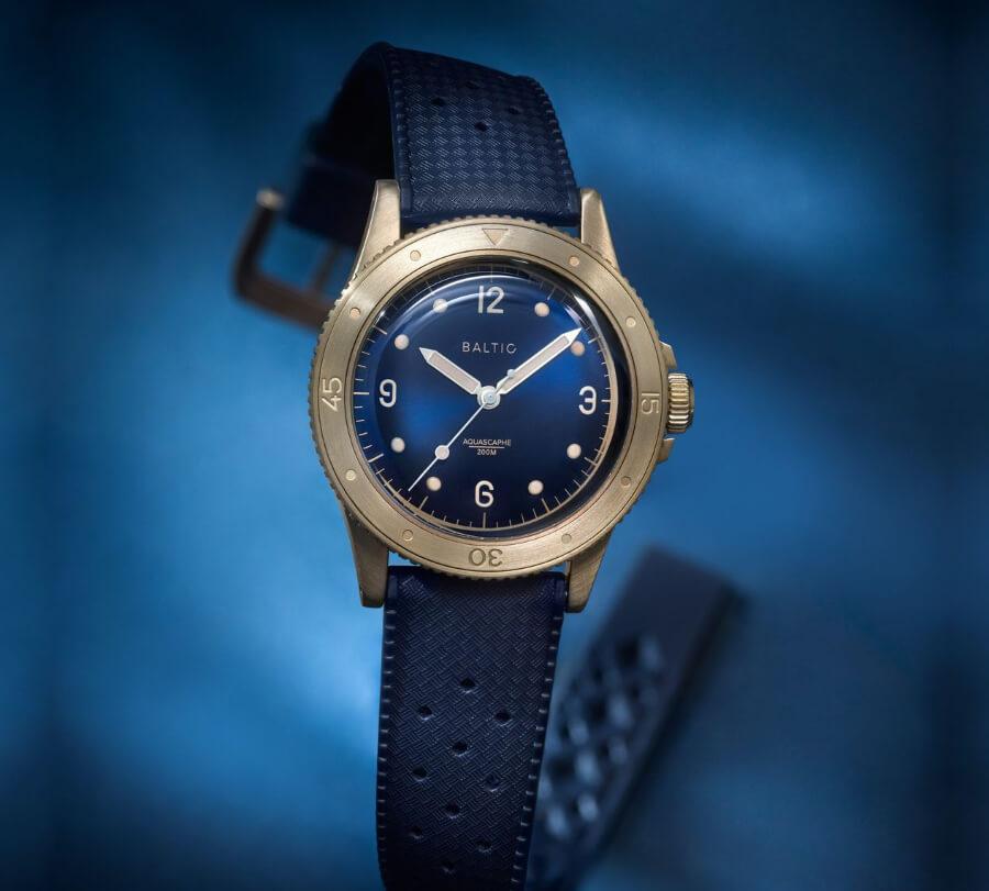 The New Baltic Aquascaphe Bronze Blue Dial