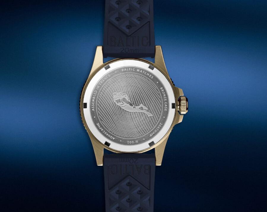 Baltic Aquascaphe Bronze Blue Case Back