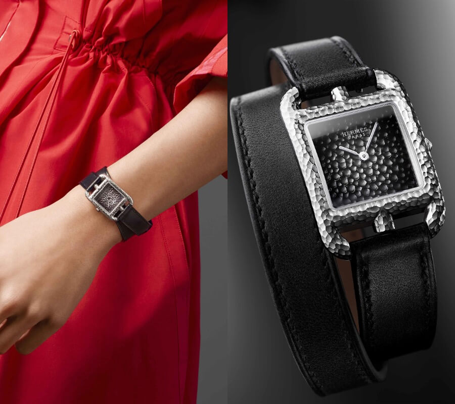 Hermes Women Watches Hermes Cape Cod Martelée