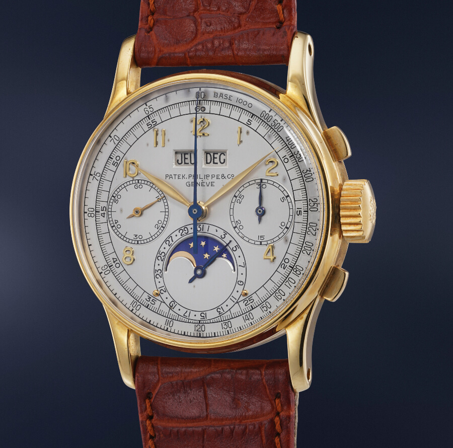 Patek Philippe Reference 1518 in yellow gold