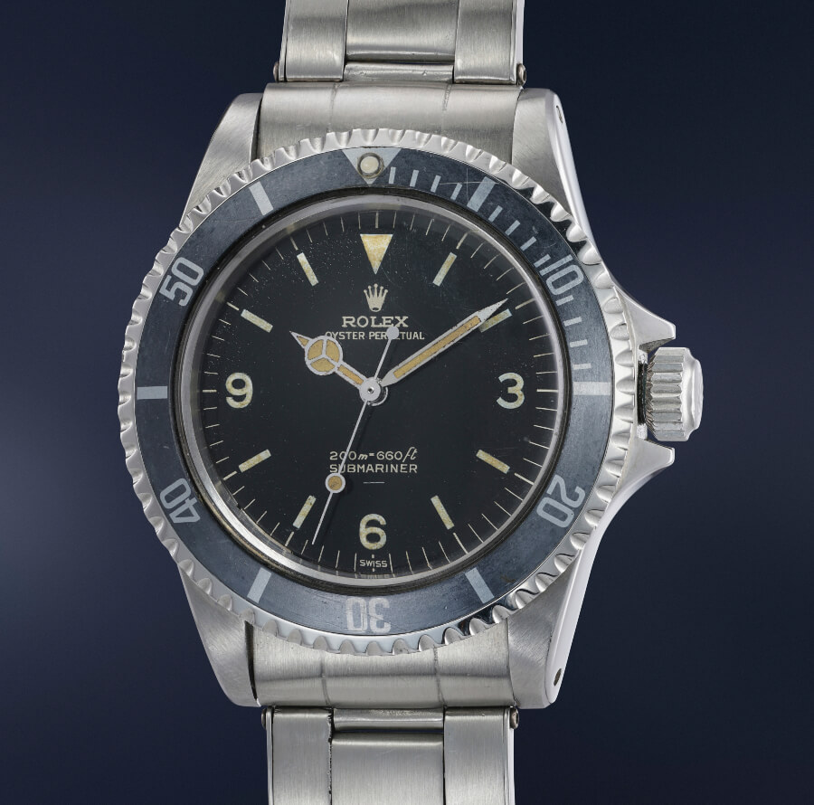 """Rolex Submariner Reference 5513 with """"Explorer dial"""" or """"3-6-9 dial"""""""