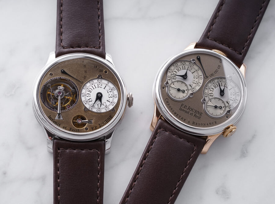 "Two Extremely Rare F.P. Journe Models Tourbillon Souverain and Resonance both from his Original ""Souscription"" Series"