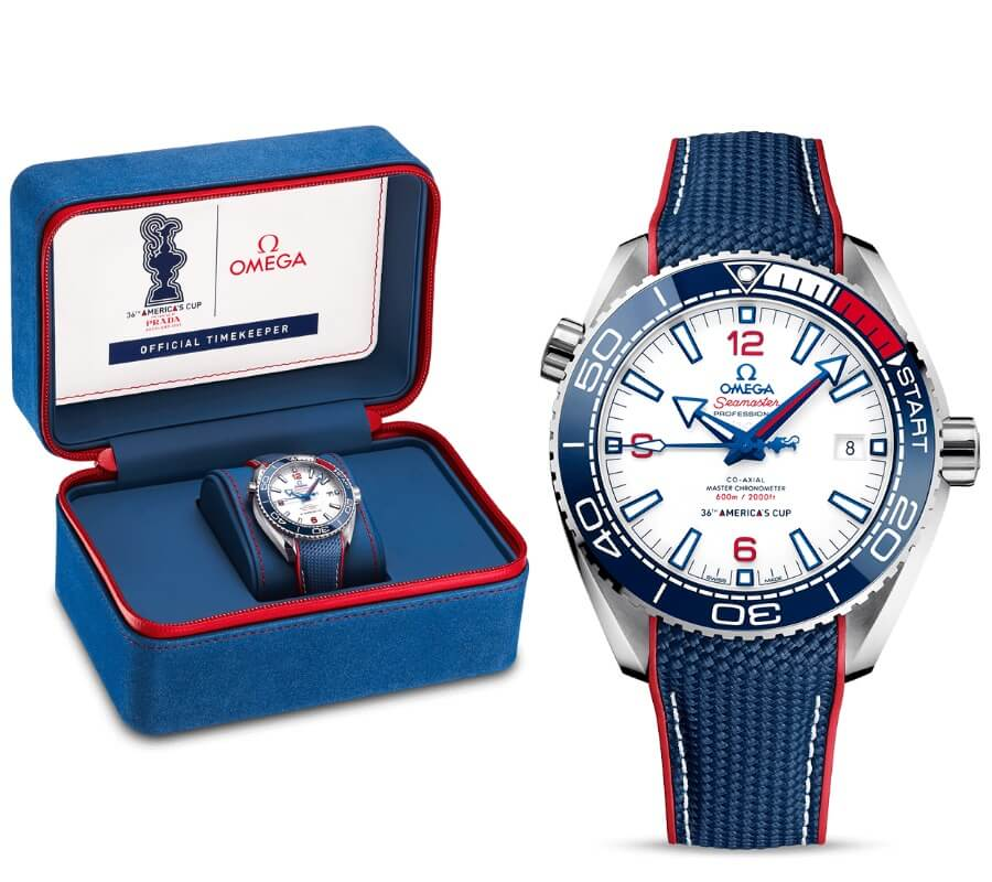 Omega Seamaster Planet Ocean 600m Omega Co-Axial Master Chronometer 43.5 mm America's Cup Edition Full Box For Sale