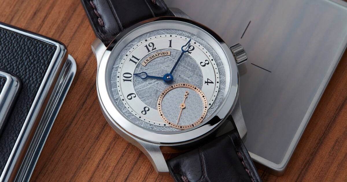J.N. Shapiro Infinity Series P.01 for Collective Horology (Price, Pictures and Specifications)