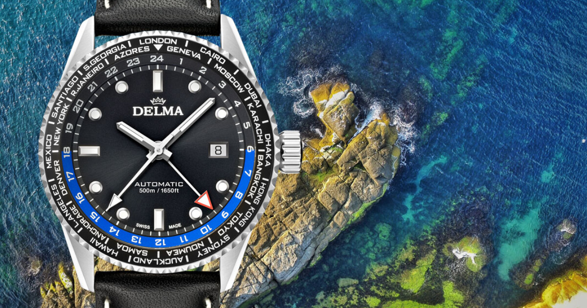 Delma Cayman Worldtimer Automatic (Price, Pictures and Specifications)