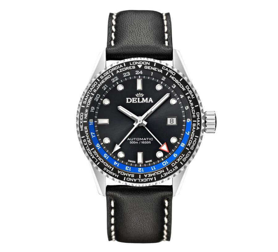 Delma Cayman Worldtimer Automatic Watch GMT