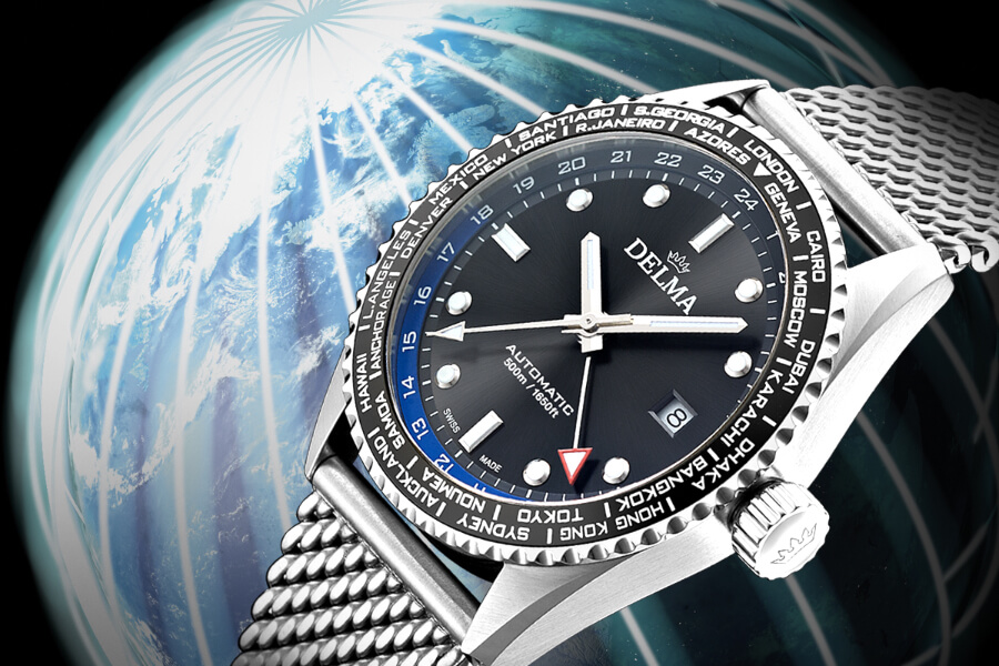Delma Cayman Worldtimer Automatic Watch review