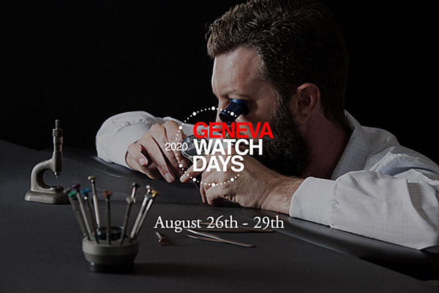 Geneva Watch Days 2020 August 26th to 29th
