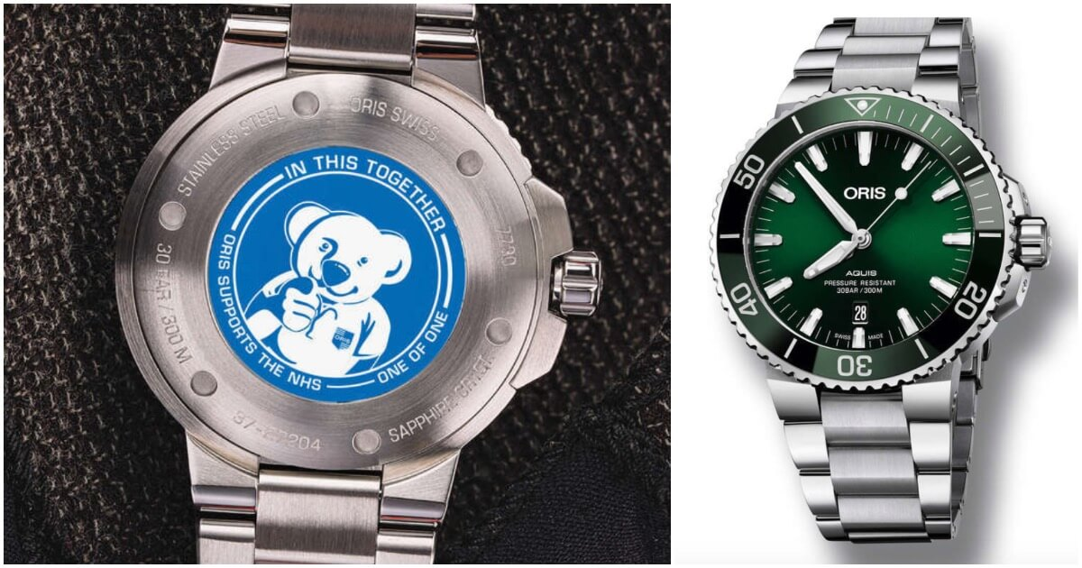 "A Unique Oris Aquis Date Green Dial 43.5mm ""Oris Bear"" To Be Auction By Fellows"