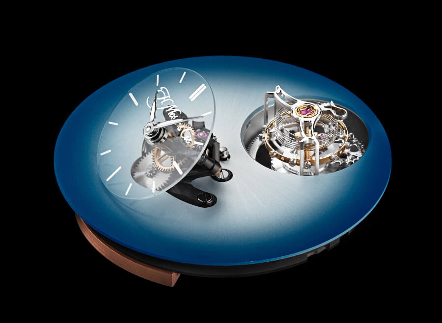 H. Moser × MB&F Endeavour Cylindrical Tourbillon Dial