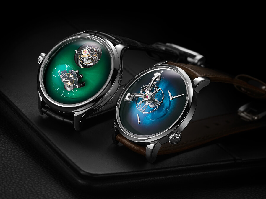 H. Moser × MB&F Endeavour Cylindrical Tourbillon and MB&F × H. Moser LM101