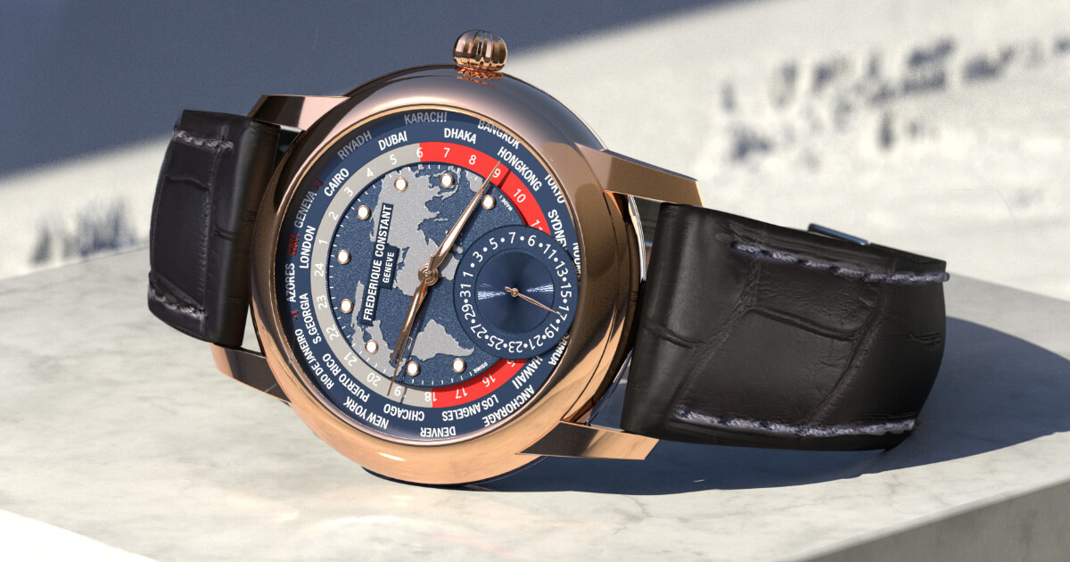 Frederique Constant Classic Worldtimer Manufacture Limited Edition (Price, Pictures and Specifications)