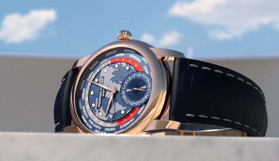 Frederique Constant Classic Worldtimer Manufacture Limited Edition  Rose gold