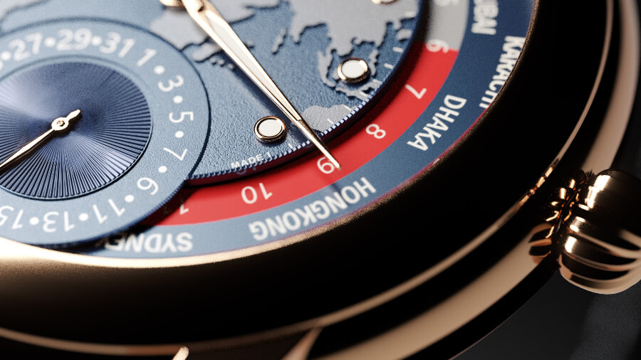 Frederique Constant Classic Worldtimer Manufacture Limited Edition Dial