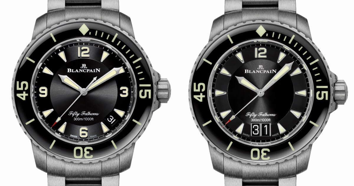 Blancpain Fifty Fathoms Automatique and Fifty Fathoms Grande Date Are Now Available With A Titanium Bracelet (Pictures and Specifications)