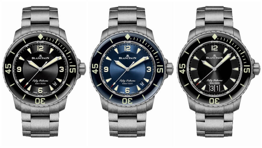 Blancpain Fifty Fathoms Automatique and Fifty Fathoms Grande Date With A Titanium Bracelet