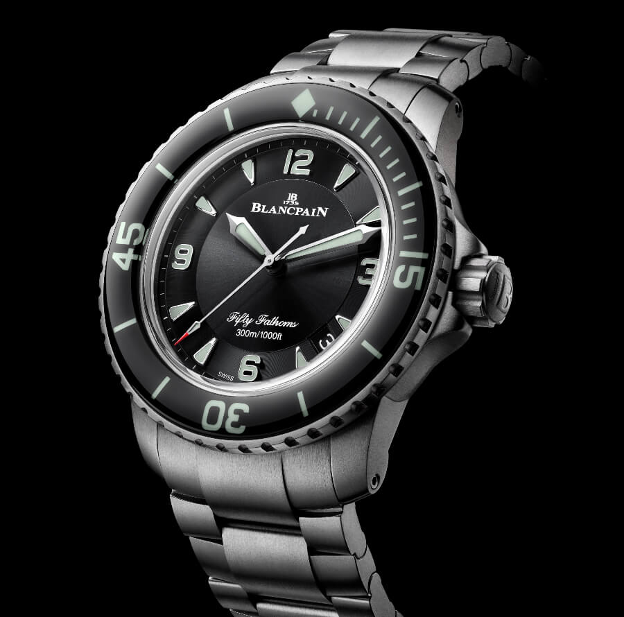 Blancpain Fifty Fathoms Automatique Titanium Bracelet Watch Review