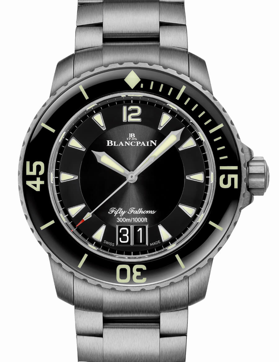 Blancpain Fifty Fathoms Grande Date with a titanium bracelet