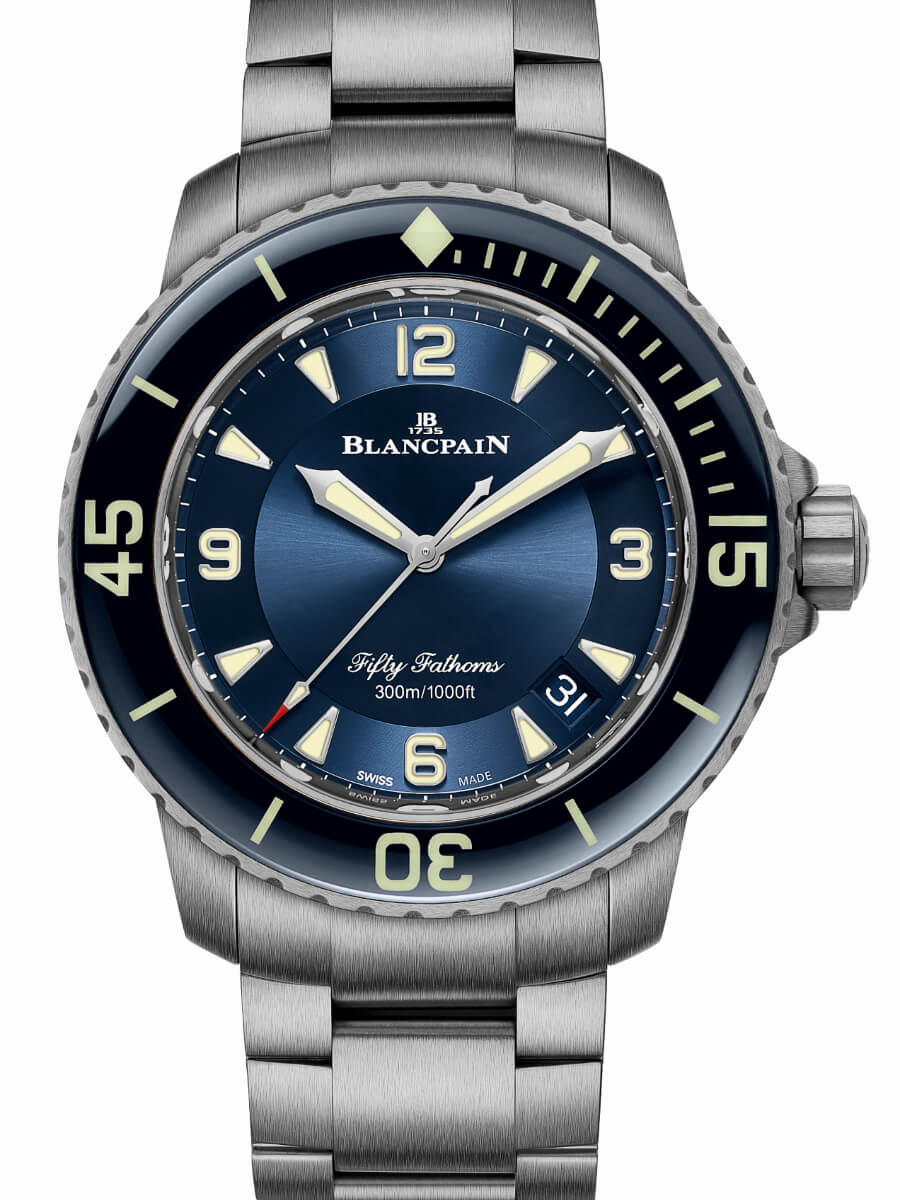 Blancpain Fifty Fathoms Automatique Blue Dial Titanium