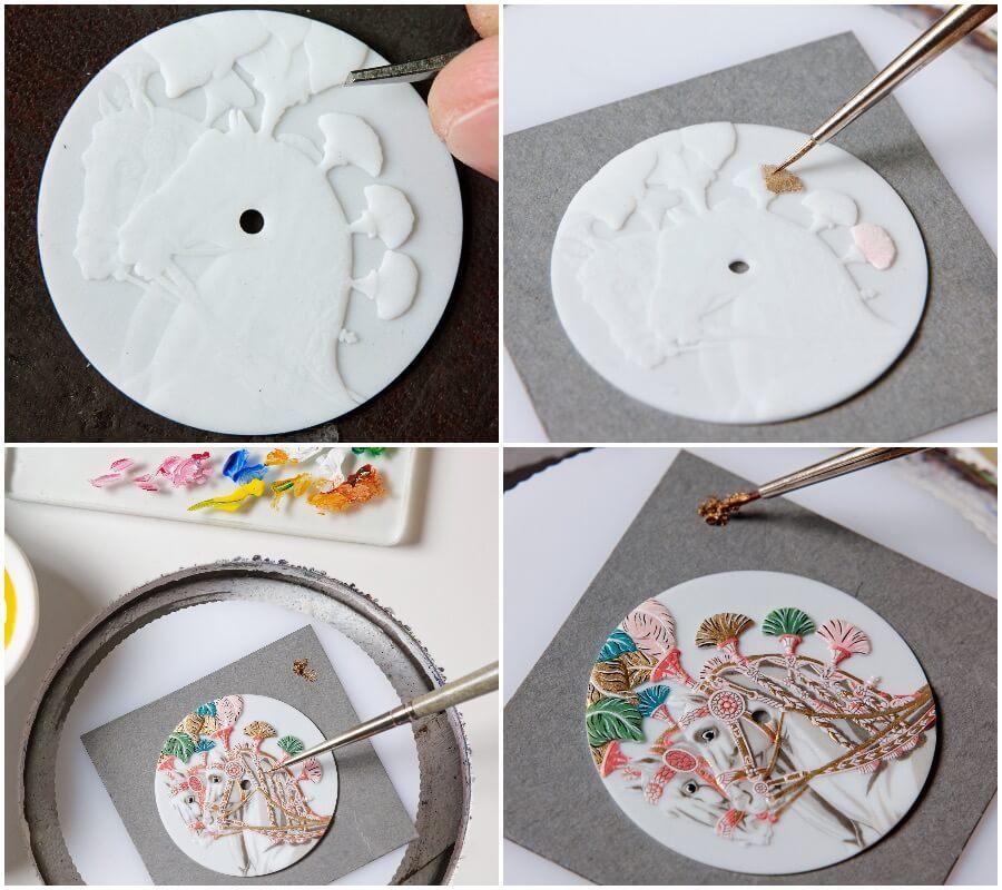 Hermes Arceau Harnais Français Remix Porcelaine Dial Watch