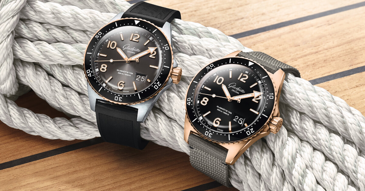 Glashütte Original SeaQ Panorama Date Bicolor and SeaQ Panorama Date Red Gold (Price, Pictures and Specifications)