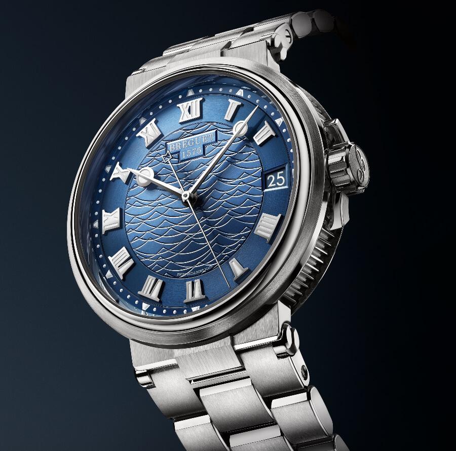 Breguet Marine 5517 white Gold Blue  dial