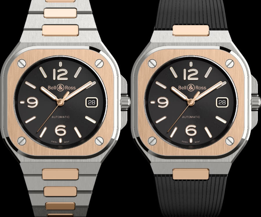 Bell & Ross BR05 Black Steel & Gold Watch Review