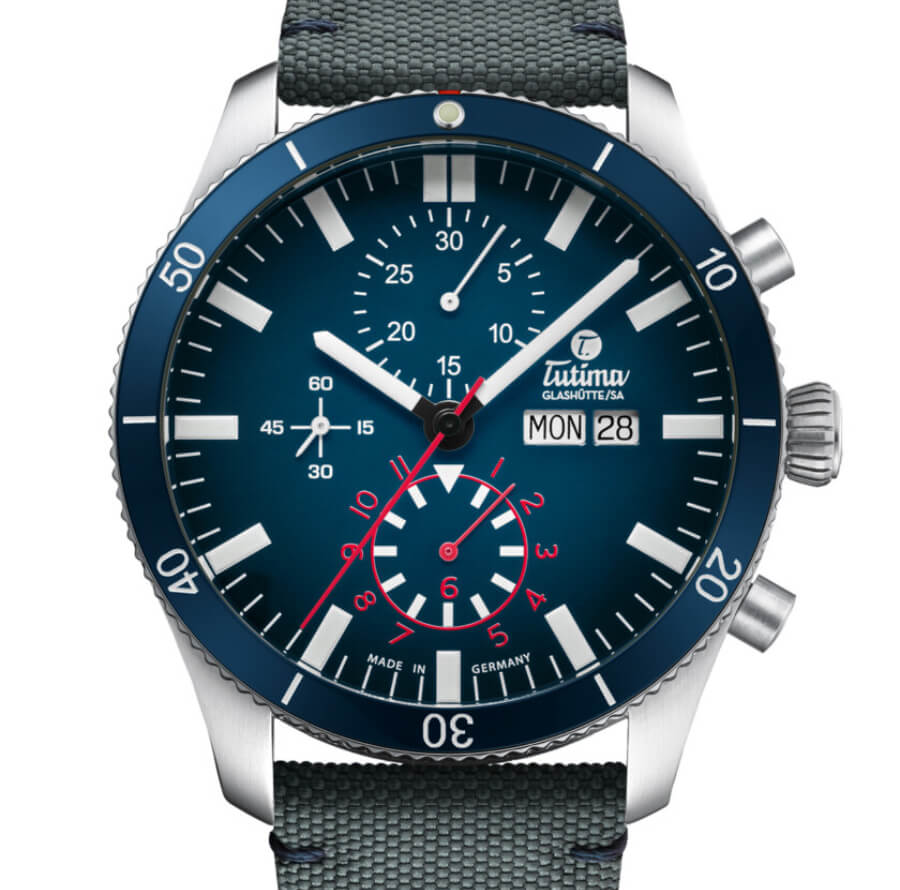 The New Tutima Grand Flieger Airport Chronograph Blue Dial