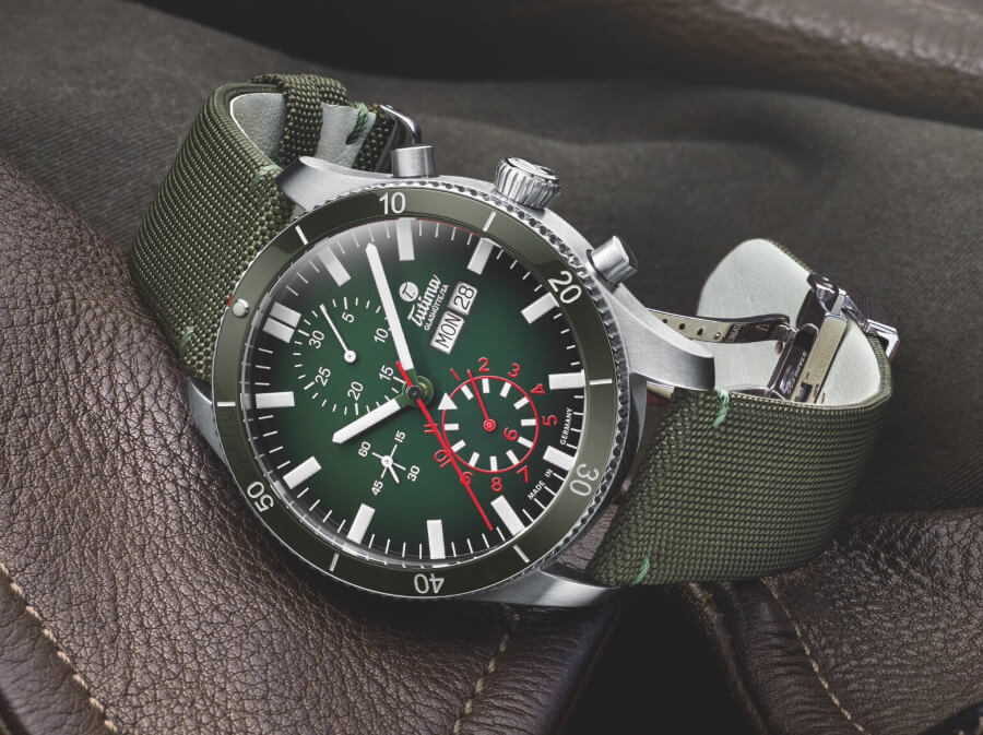 Tutima Grand Flieger Airport Chronograph Green Dial Watch Review