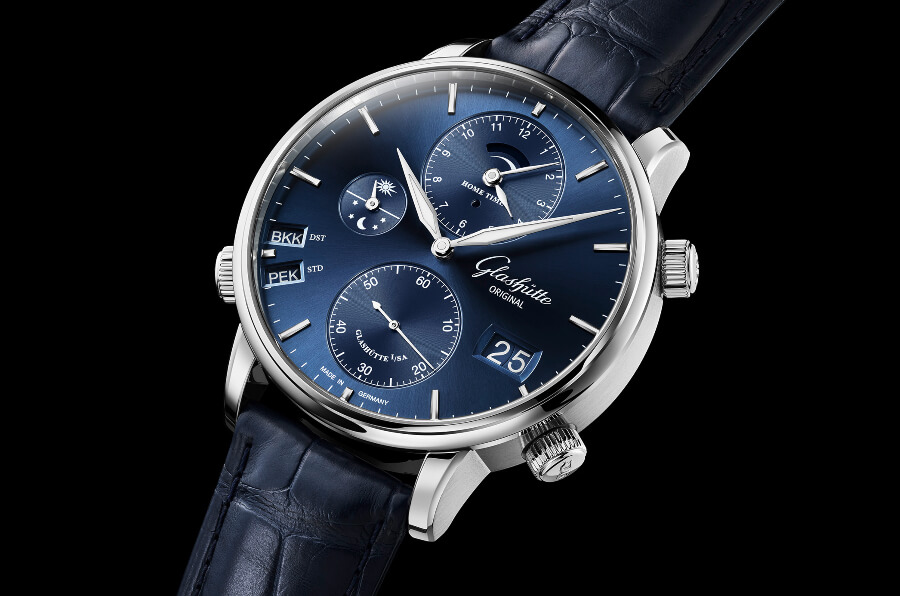 The New Glashütte Original Senator Cosmopolite In Midnight Blue